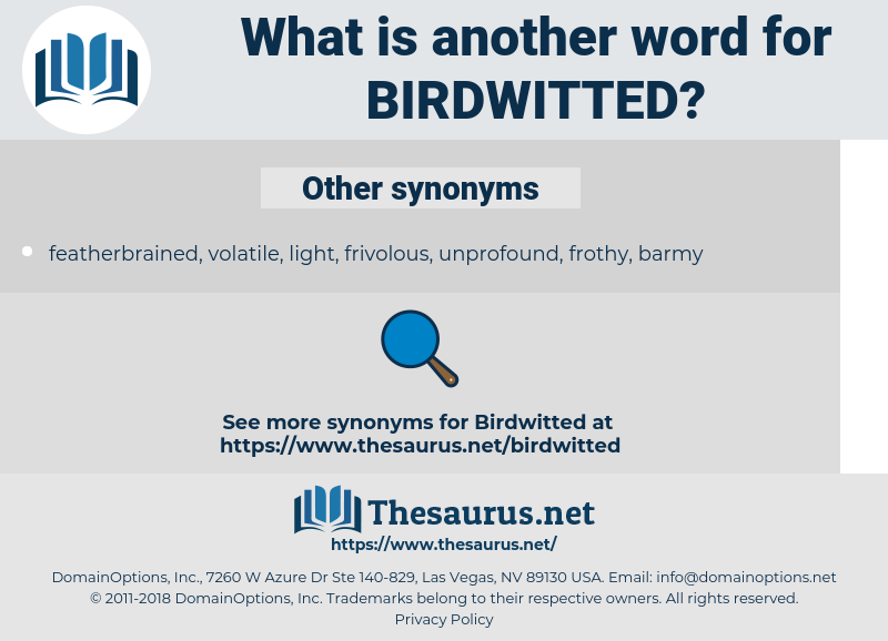birdwitted, synonym birdwitted, another word for birdwitted, words like birdwitted, thesaurus birdwitted