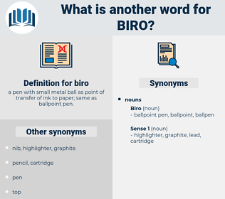 biro, synonym biro, another word for biro, words like biro, thesaurus biro