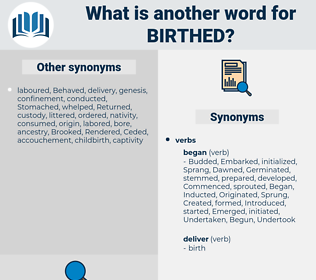 birthed, synonym birthed, another word for birthed, words like birthed, thesaurus birthed
