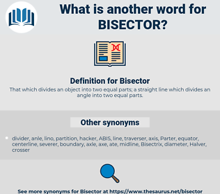 Bisector, synonym Bisector, another word for Bisector, words like Bisector, thesaurus Bisector