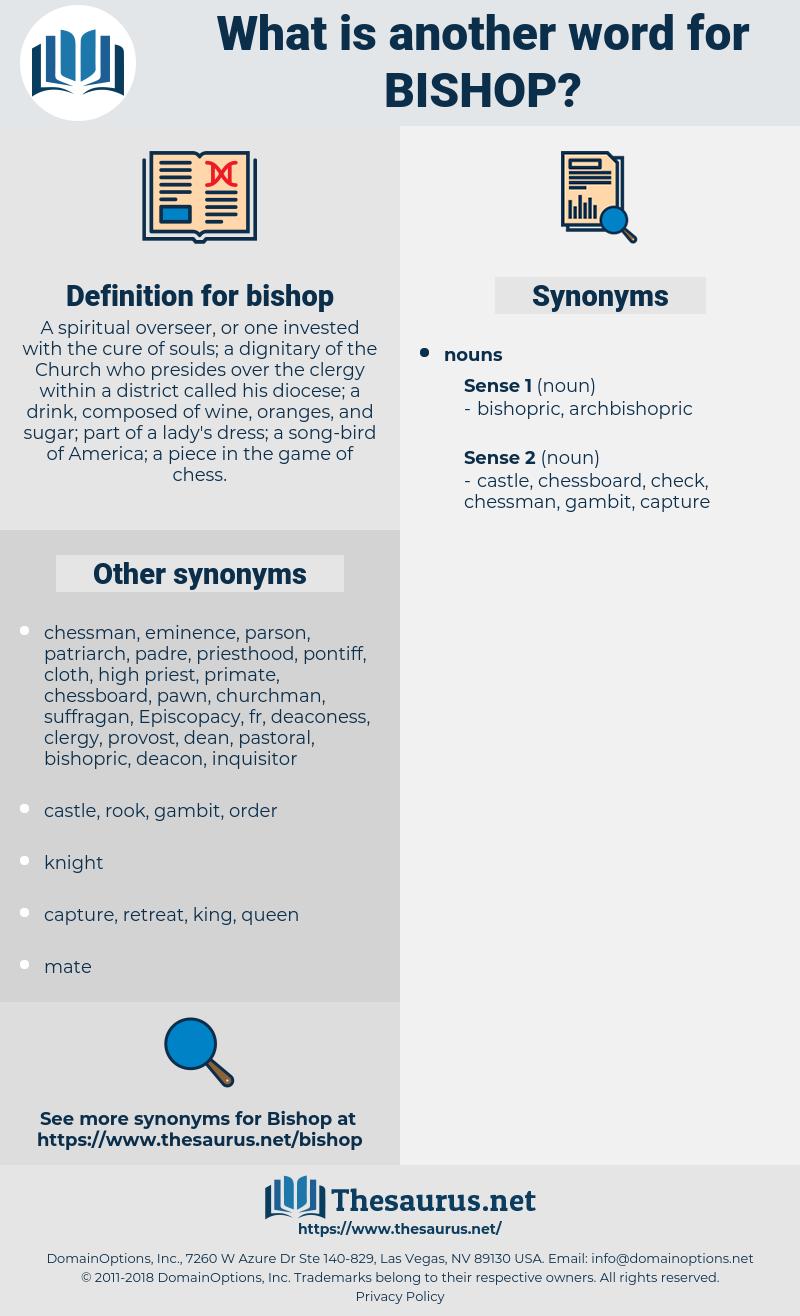 bishop, synonym bishop, another word for bishop, words like bishop, thesaurus bishop