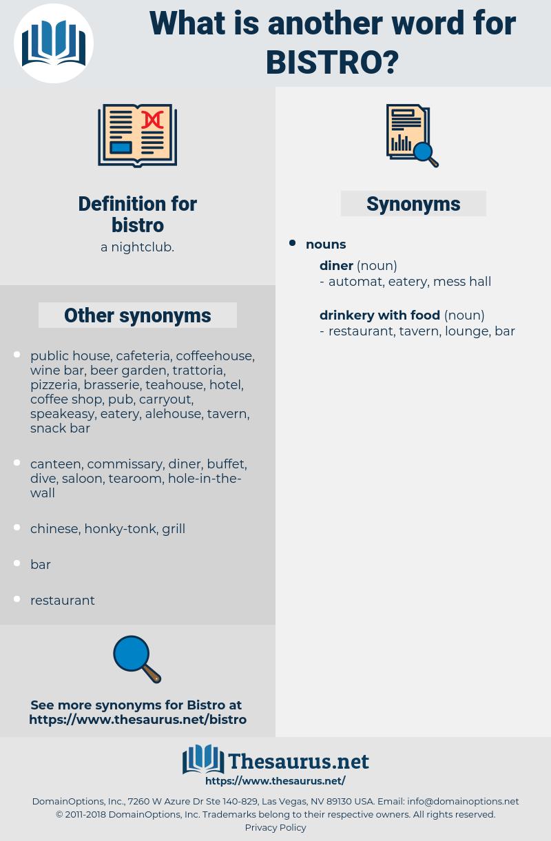 bistro, synonym bistro, another word for bistro, words like bistro, thesaurus bistro