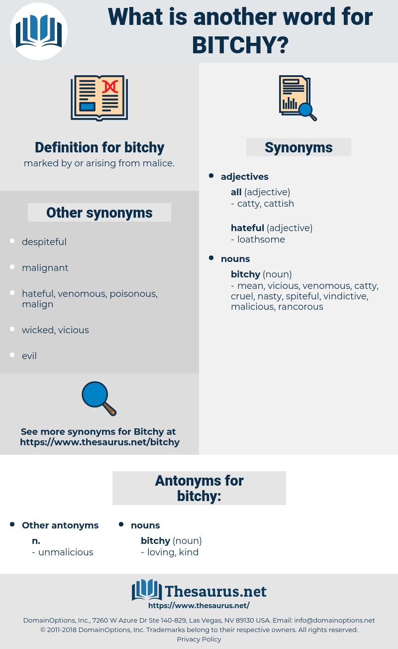 Bitchy Synonym