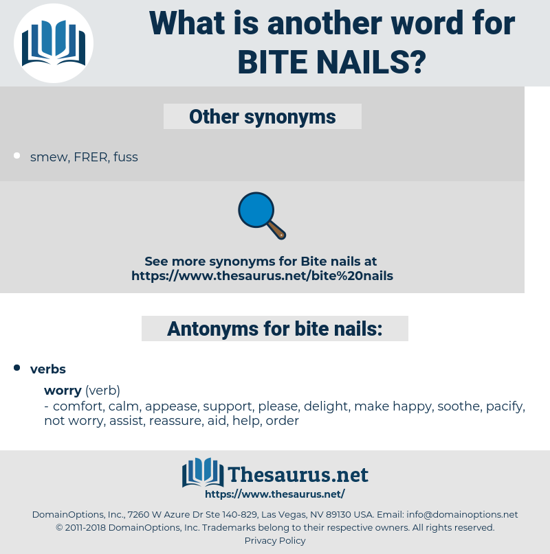 bite nails, synonym bite nails, another word for bite nails, words like bite nails, thesaurus bite nails
