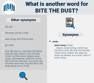 bite the dust, synonym bite the dust, another word for bite the dust, words like bite the dust, thesaurus bite the dust
