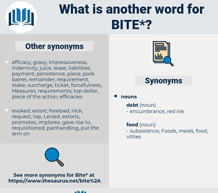 bite, synonym bite, another word for bite, words like bite, thesaurus bite