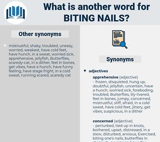biting nails, synonym biting nails, another word for biting nails, words like biting nails, thesaurus biting nails