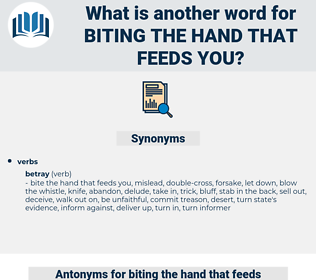 biting the hand that feeds you, synonym biting the hand that feeds you, another word for biting the hand that feeds you, words like biting the hand that feeds you, thesaurus biting the hand that feeds you