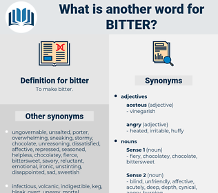 bitter, synonym bitter, another word for bitter, words like bitter, thesaurus bitter