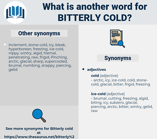 bitterly cold, synonym bitterly cold, another word for bitterly cold, words like bitterly cold, thesaurus bitterly cold