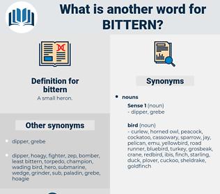 bittern, synonym bittern, another word for bittern, words like bittern, thesaurus bittern