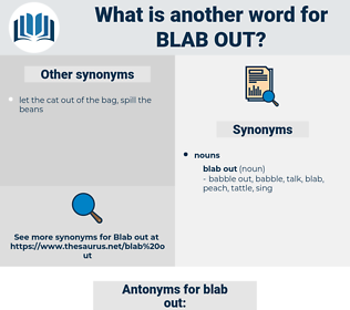blab out, synonym blab out, another word for blab out, words like blab out, thesaurus blab out