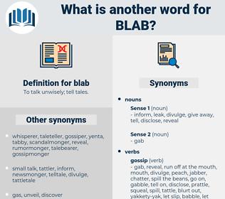 blab, synonym blab, another word for blab, words like blab, thesaurus blab