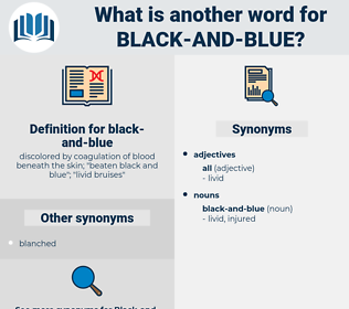 black and blue, synonym black and blue, another word for black and blue, words like black and blue, thesaurus black and blue