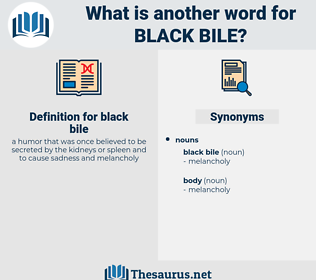 black bile, synonym black bile, another word for black bile, words like black bile, thesaurus black bile