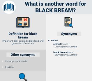 black bream, synonym black bream, another word for black bream, words like black bream, thesaurus black bream