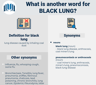black lung, synonym black lung, another word for black lung, words like black lung, thesaurus black lung