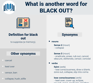 black out, synonym black out, another word for black out, words like black out, thesaurus black out