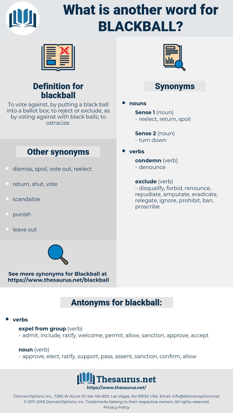 blackball, synonym blackball, another word for blackball, words like blackball, thesaurus blackball