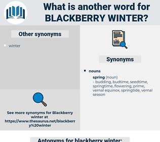 blackberry winter, synonym blackberry winter, another word for blackberry winter, words like blackberry winter, thesaurus blackberry winter