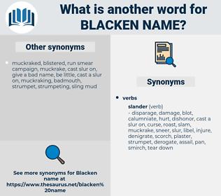 blacken name, synonym blacken name, another word for blacken name, words like blacken name, thesaurus blacken name
