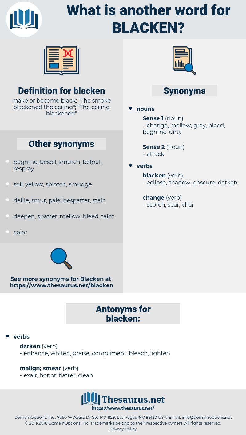 blacken, synonym blacken, another word for blacken, words like blacken, thesaurus blacken