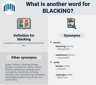 blacking, synonym blacking, another word for blacking, words like blacking, thesaurus blacking