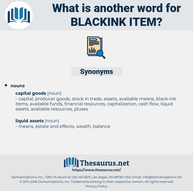 blackink item, synonym blackink item, another word for blackink item, words like blackink item, thesaurus blackink item