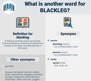 blackleg, synonym blackleg, another word for blackleg, words like blackleg, thesaurus blackleg
