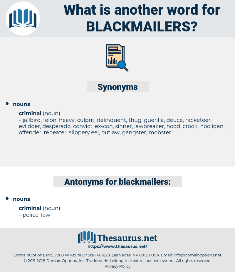 blackmailers, synonym blackmailers, another word for blackmailers, words like blackmailers, thesaurus blackmailers