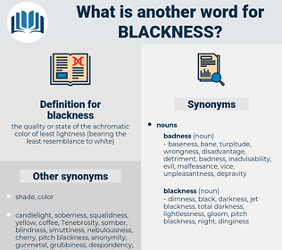 blackness, synonym blackness, another word for blackness, words like blackness, thesaurus blackness