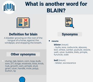 blain, synonym blain, another word for blain, words like blain, thesaurus blain