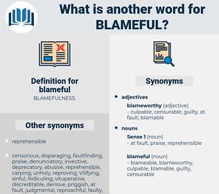 blameful, synonym blameful, another word for blameful, words like blameful, thesaurus blameful