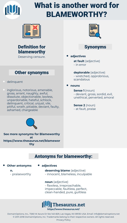 blameworthy, synonym blameworthy, another word for blameworthy, words like blameworthy, thesaurus blameworthy