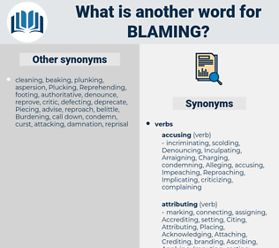 Blaming, synonym Blaming, another word for Blaming, words like Blaming, thesaurus Blaming
