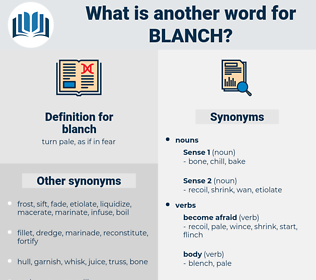 blanch, synonym blanch, another word for blanch, words like blanch, thesaurus blanch