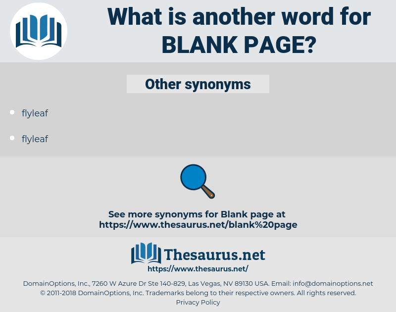 blank page, synonym blank page, another word for blank page, words like blank page, thesaurus blank page