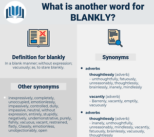 blankly, synonym blankly, another word for blankly, words like blankly, thesaurus blankly