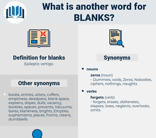 blanks, synonym blanks, another word for blanks, words like blanks, thesaurus blanks