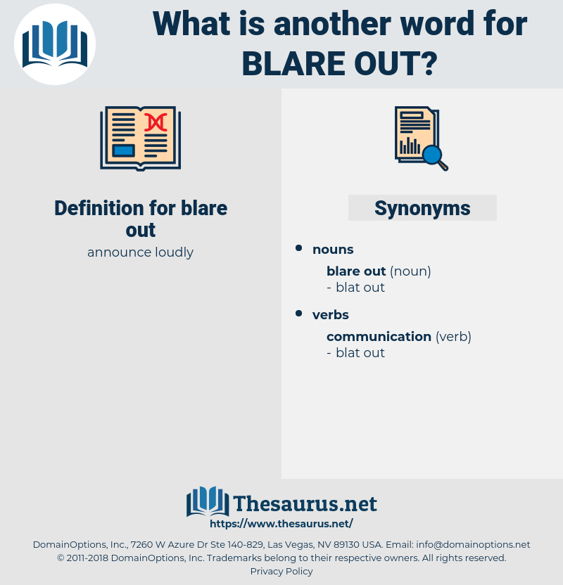 blare out, synonym blare out, another word for blare out, words like blare out, thesaurus blare out