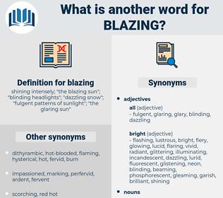 blazing, synonym blazing, another word for blazing, words like blazing, thesaurus blazing