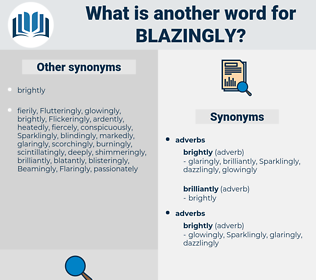 blazingly, synonym blazingly, another word for blazingly, words like blazingly, thesaurus blazingly