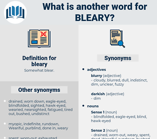 bleary, synonym bleary, another word for bleary, words like bleary, thesaurus bleary