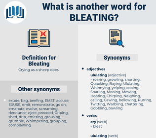 Bleating, synonym Bleating, another word for Bleating, words like Bleating, thesaurus Bleating