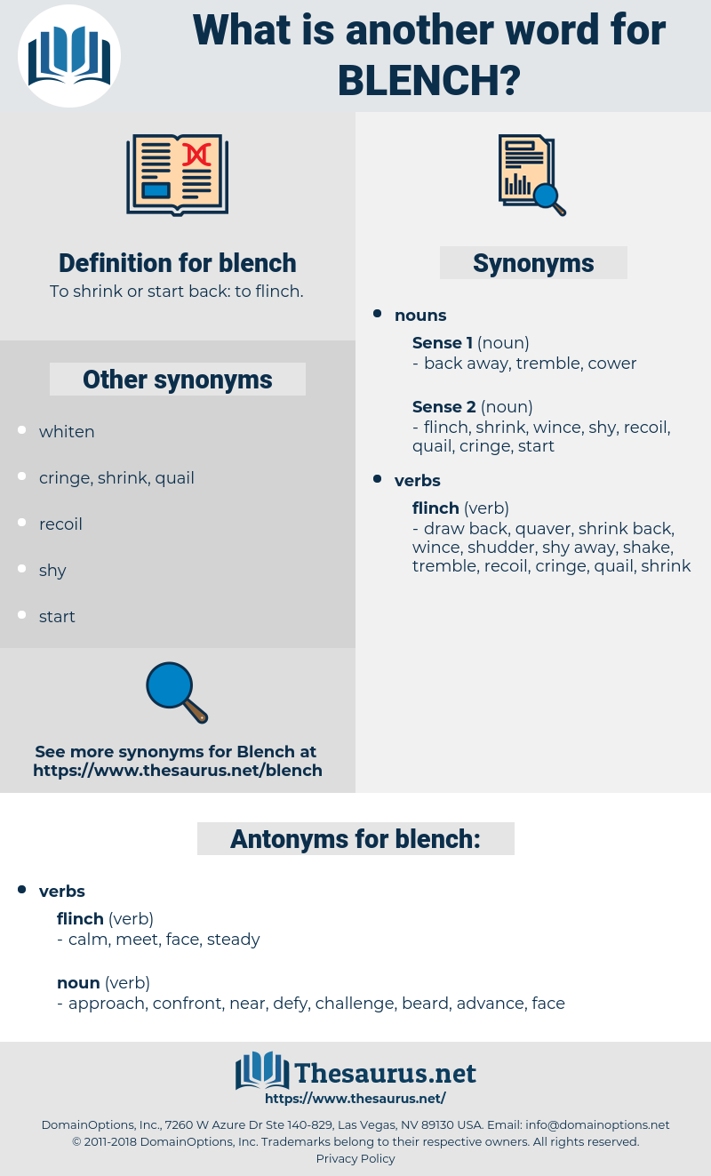blench, synonym blench, another word for blench, words like blench, thesaurus blench