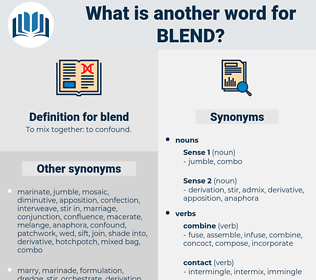 blend, synonym blend, another word for blend, words like blend, thesaurus blend
