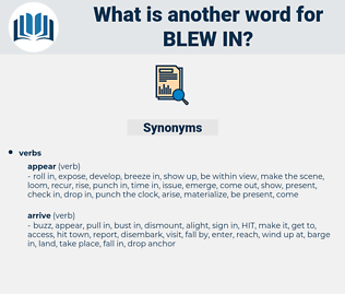 blew in, synonym blew in, another word for blew in, words like blew in, thesaurus blew in