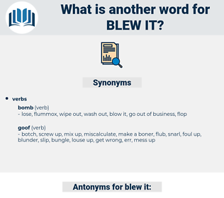 blew it, synonym blew it, another word for blew it, words like blew it, thesaurus blew it