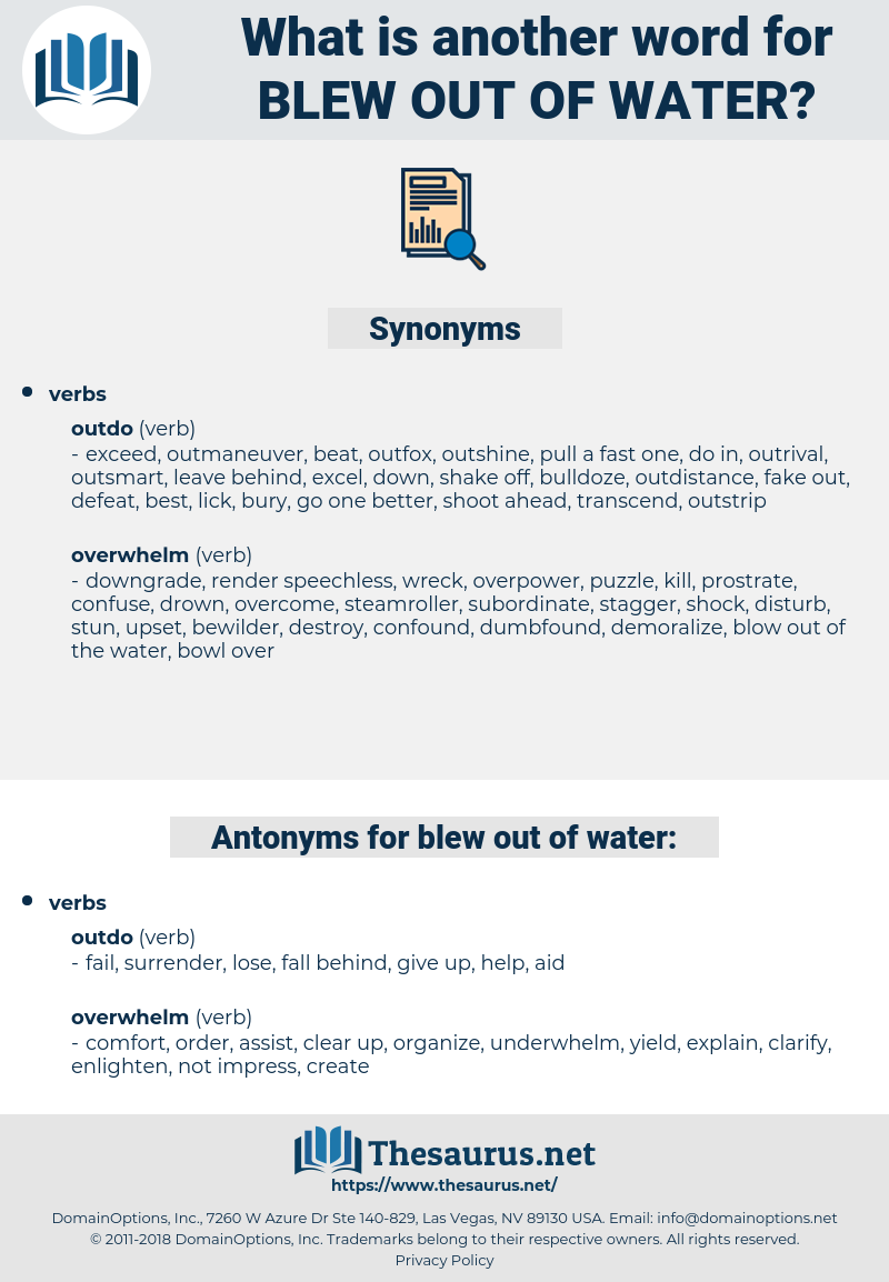 blew out of water, synonym blew out of water, another word for blew out of water, words like blew out of water, thesaurus blew out of water