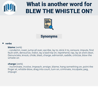 blew the whistle on, synonym blew the whistle on, another word for blew the whistle on, words like blew the whistle on, thesaurus blew the whistle on
